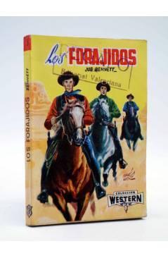 Cubierta de COLECCIÓN WESTERN 5. LOS FORAJIDOS (Joe Bennet) Valenciana 1961. Sello en cubierta