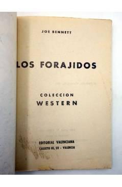Muestra 1 de COLECCIÓN WESTERN 5. LOS FORAJIDOS (Joe Bennet) Valenciana 1961. Sello en cubierta