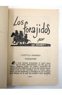 Muestra 2 de COLECCIÓN WESTERN 5. LOS FORAJIDOS (Joe Bennet) Valenciana 1961. Sello en cubierta