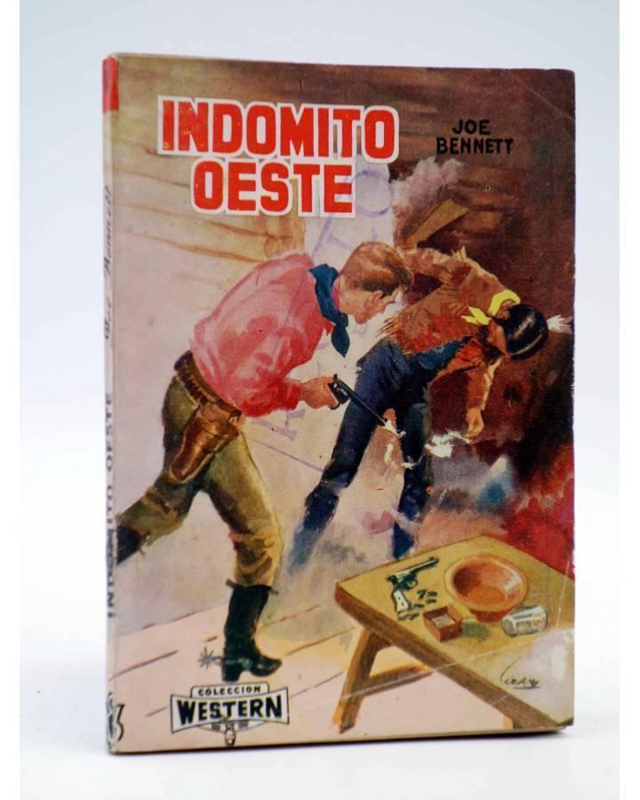 Cubierta de COLECCIÓN WESTERN 14. INDÓMITO OESTE (Joe Bennet) Valenciana 1961. Sello en cubierta