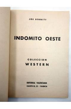 Muestra 1 de COLECCIÓN WESTERN 14. INDÓMITO OESTE (Joe Bennet) Valenciana 1961. Sello en cubierta