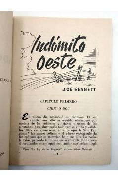 Muestra 2 de COLECCIÓN WESTERN 14. INDÓMITO OESTE (Joe Bennet) Valenciana 1961. Sello en cubierta