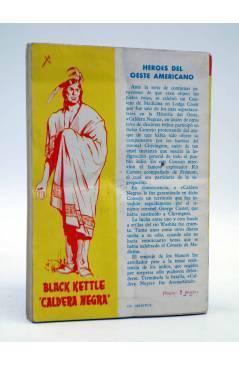 Contracubierta de COLECCIÓN WESTERN 17. CAMINO LARGO (Henry Keystoke) Valenciana 1961. Sello en cubierta