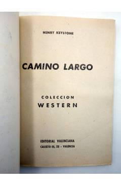 Muestra 1 de COLECCIÓN WESTERN 17. CAMINO LARGO (Henry Keystoke) Valenciana 1961. Sello en cubierta