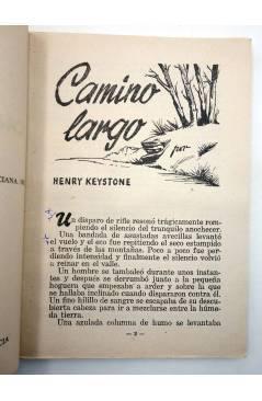 Muestra 2 de COLECCIÓN WESTERN 17. CAMINO LARGO (Henry Keystoke) Valenciana 1961. Sello en cubierta