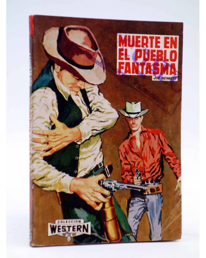 Cubierta de COLECCIÓN WESTERN 18. MUERTE EN EL PUEBLO FANTASMA (Joe Bennet) Valenciana 1961. Sello en cubierta
