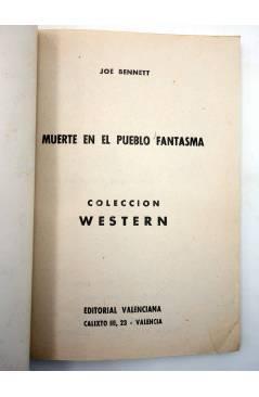 Muestra 1 de COLECCIÓN WESTERN 18. MUERTE EN EL PUEBLO FANTASMA (Joe Bennet) Valenciana 1961. Sello en cubierta