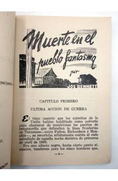 Muestra 2 de COLECCIÓN WESTERN 18. MUERTE EN EL PUEBLO FANTASMA (Joe Bennet) Valenciana 1961. Sello en cubierta