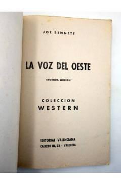 Muestra 1 de COLECCIÓN WESTERN 20. LA VOZ DEL OESTE (Joe Bennet) Valenciana 1962