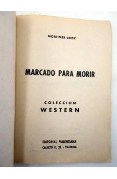 Muestra 1 de COLECCIÓN WESTERN 23. MARCADO PARA MORIR (Mortimer Cody) Valenciana 1962