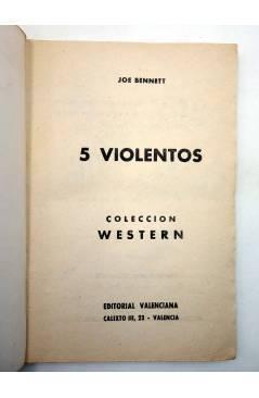Muestra 1 de COLECCIÓN WESTERN 42. 5 CINCO VIOLENTOS (Joe Bennet) Valenciana 1962