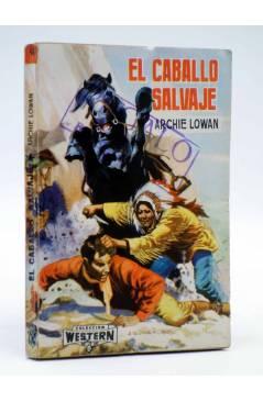 Cubierta de COLECCIÓN WESTERN 46. EL CABALLO SALVAJE (Archie Lowan) Valenciana 1963. Sello en cubierta