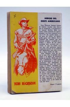Contracubierta de COLECCIÓN WESTERN 46. EL CABALLO SALVAJE (Archie Lowan) Valenciana 1963. Sello en cubierta