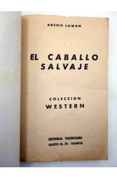 Muestra 1 de COLECCIÓN WESTERN 46. EL CABALLO SALVAJE (Archie Lowan) Valenciana 1963. Sello en cubierta