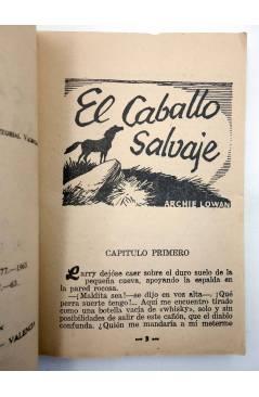 Muestra 2 de COLECCIÓN WESTERN 46. EL CABALLO SALVAJE (Archie Lowan) Valenciana 1963. Sello en cubierta