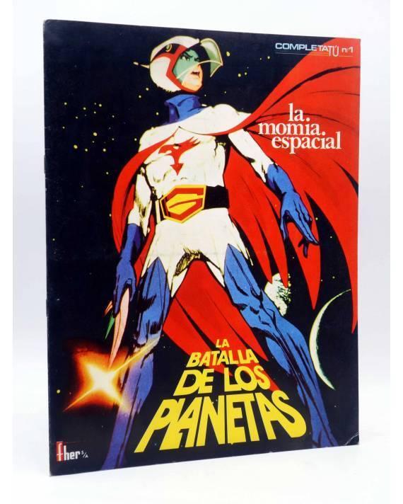 Cubierta de COMPLETATÚ COMPLETA TÚ LA BATALLA DE LOS PLANETAS 1. LA MOMIA ESPACIAL. Fher 1980