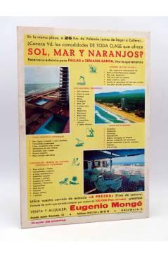 Contracubierta de LA GRAN GUÍA FALLERA AÑO XXIV Nº 24. REVISTA DE FALLAS (Vvaa) Valencia 1977