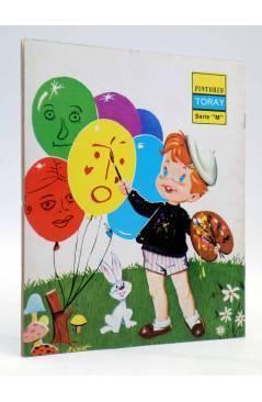 Contracubierta de PINTORES TORAY SERIE M 1. NIÑO PINTANDO GLOBOS (Antonio Ayné) Toray 1986