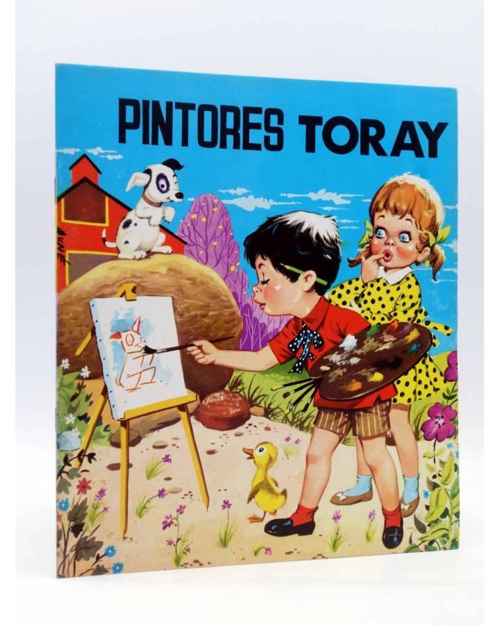 Cubierta de PINTORES TORAY SERIE G 18. LIENZO CABALLETE PERRITO NIÑOS (Antonio Ayné) Toray 1986