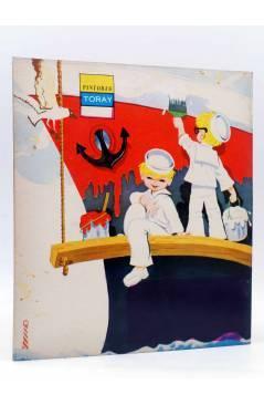 Contracubierta de PINTORES TORAY SERIE G 10. PINTANDO UN BARCO (¿María Pascual?) Toray 1973