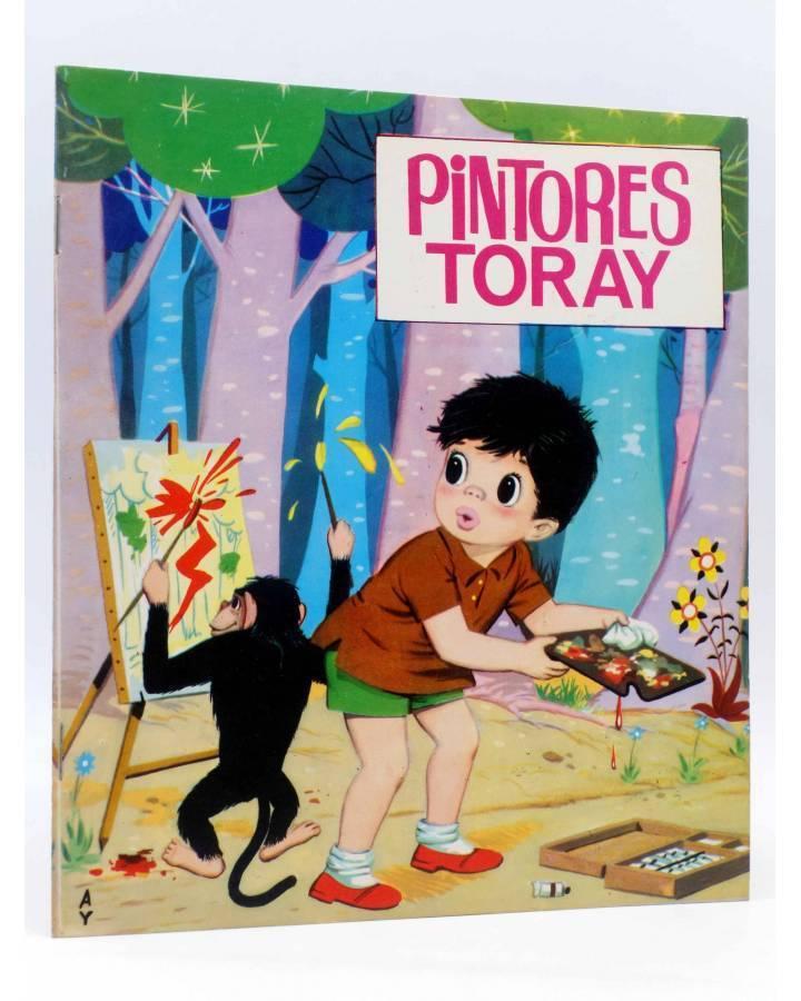 Cubierta de PINTORES TORAY SERIE G 21. NIÑO EN EL BOSQUE CON MONO PINTOR (Antonio Ayné) Toray 1973