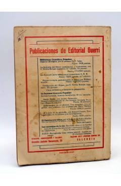 Contracubierta de SOLA 12. NOVELA POR MARIO D'ANCONA. CUB PERTEGÁS (Mario Dáncona) Guerri Circa 1930