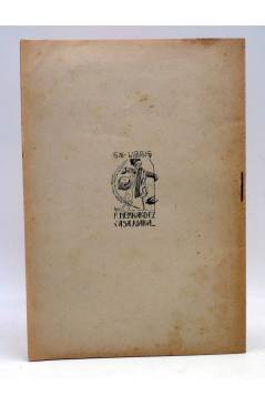 Contracubierta de LA ORONETA DE PLATA. SAINETE VALENSIÁ MODERN (F. Hernández Casajuana) Edisió Popular 1914