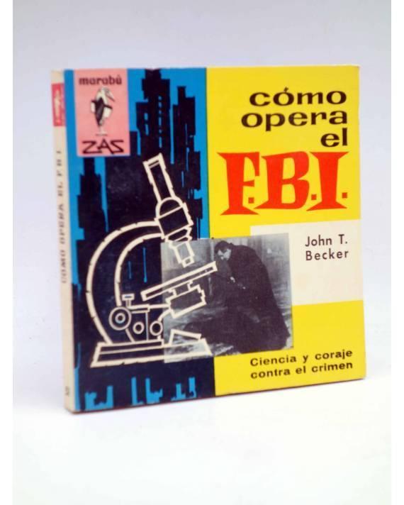 Cubierta de MARABU ZAS 52. CÓMO OPERA EL FBI (John T. Becker) Bruguera 1962