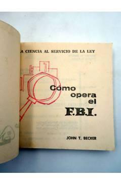 Muestra 2 de MARABU ZAS 52. CÓMO OPERA EL FBI (John T. Becker) Bruguera 1962
