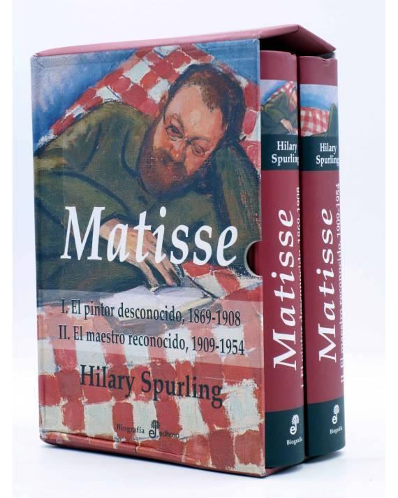 Cubierta de MATISSE. EL PINTOR DESCONOCIDO. DOS TOMOS EN ESTUCHE (Hillary Spurling) Edhasa 2007