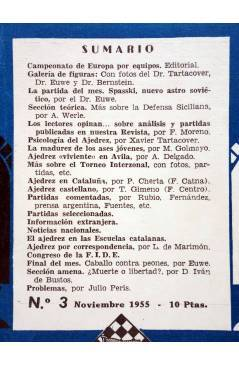 Muestra 1 de EL AJEDREZ ESPAÑOL AÑO I Nº 3. REVISTA MENSUAL. NOVIEMBRE (Vvaa) FEDA 1955