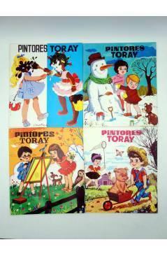 Contracubierta de PINTORES TORAY SERIE G. LOTE DE 19 DIFERENTES (Antonio Ayné / María Pascual) Toray 1992