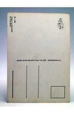 Contracubierta de POSTAL STAR GRAFIC 30. LA GIOCONDA (Toni Riera) Producciones Editoriales 1981. REVISTA STAR