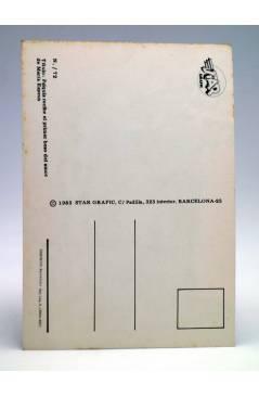 Contracubierta de POSTAL STAR GRAFIC 72. PSIQUIS RECIBE EL PRIMER BESO (María Espeus) Producciones Editoriales 1981