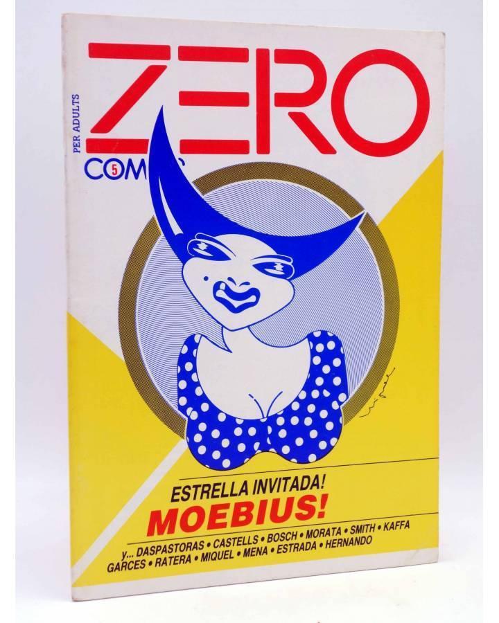 Cubierta de FANZINE ZERO COMICS 5. ESTRELLA INVITADA: MOEBIUS (Vvaa) Antonio Garcés 1982