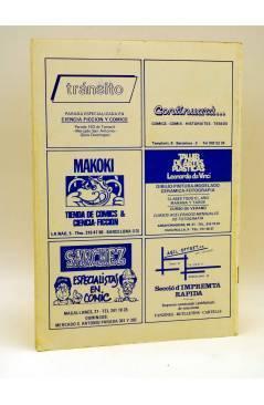 Contracubierta de FANZINE ZERO COMICS 5. ESTRELLA INVITADA: MOEBIUS (Vvaa) Antonio Garcés 1982