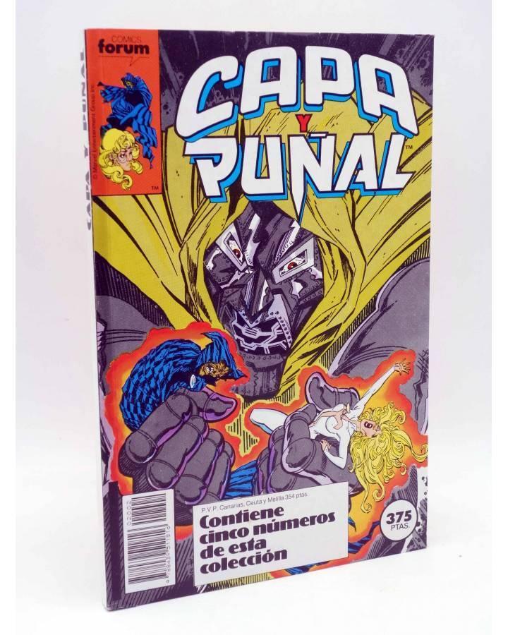 Cubierta de CAPA Y PUÑAL RETAPADO 2 NºS 6 A 10 (Mantlo / Mignola / Blevins) Forum 1989