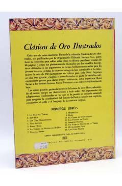 Contracubierta de CLÁSICOS DE ORO ILUSTRADOS 6. LA VUELTA AL MUNDO EN 80 DÍAS (Verne / Verral / Gill) Novaro 1980