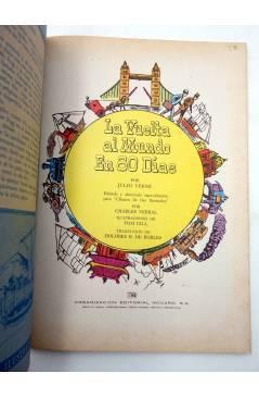 Muestra 1 de CLÁSICOS DE ORO ILUSTRADOS 6. LA VUELTA AL MUNDO EN 80 DÍAS (Verne / Verral / Gill) Novaro 1980