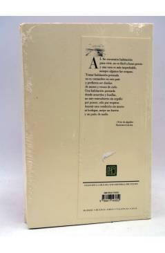 Contracubierta de LOS ROSTROS DEL PERSONAJE. POESÍA 1994-2016 (Francisco Gálvez) Pretextos Pre-textos 2018