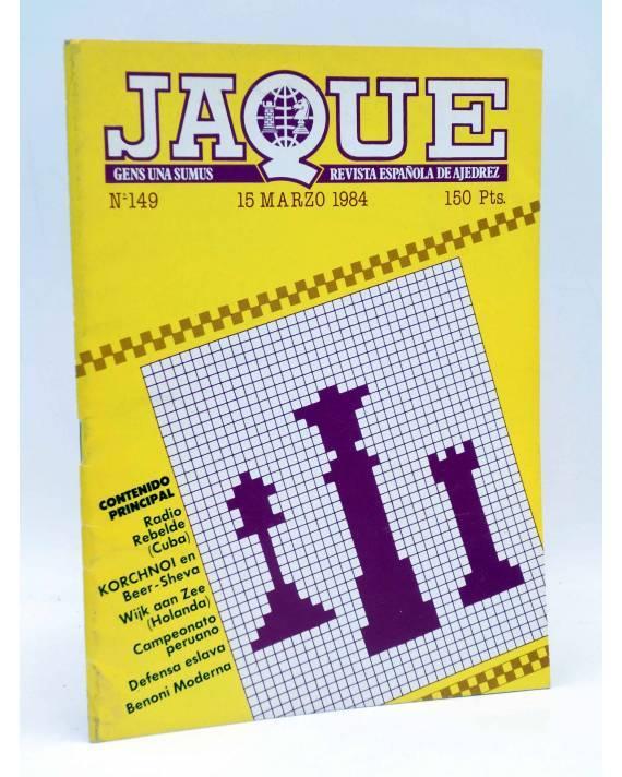 Cubierta de JAQUE REVISTA ESPAÑOLA DE AJEDREZ 149 (Vvaa) Caisa 1984