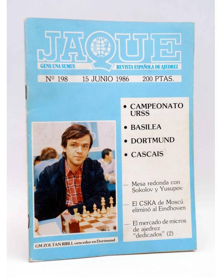 Cubierta de JAQUE REVISTA ESPAÑOLA DE AJEDREZ 198 (Vvaa) Caisa 1986