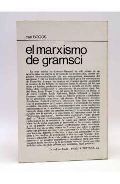 Contracubierta de LA RED DE JONAS. EL MÁRXISMO DE GRAMSCI (Carl Boggs) Premia 1980