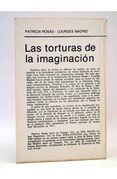 Contracubierta de LA RED DE JONAS. LAS TORTURAS DE LA IMAGINACIÓN (Patricia Rosas / Lourdes Madrid) Premia 1982
