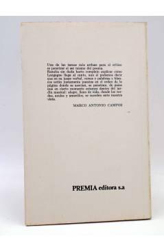 Contracubierta de LIBROS DEL BICHO 30. DONDE HABITA EL CANGREJO (Eduardo Langagne) Premia 1982