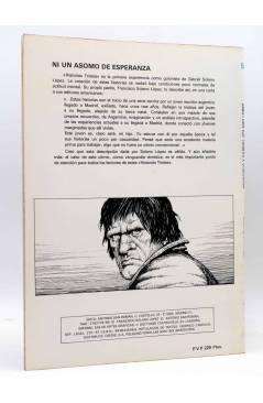Contracubierta de COLECCIÓN VILÁN 5. HISTORIAS TRISTES (Francisco Y Gabriel Solano López) Antonio San Román 1981