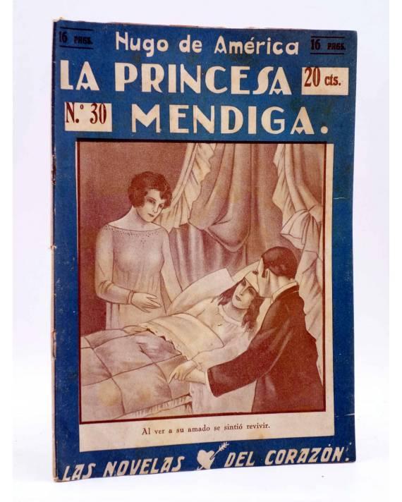 Cubierta de LAS NOVELAS DEL CORAZÓN. LA PRINCESA MENDIGA 30 (Hugo De América) Vecchi Circa 1920