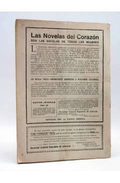 Contracubierta de LAS NOVELAS DEL CORAZÓN. LA PRINCESA MENDIGA 37 (Hugo De América) Vecchi Circa 1920