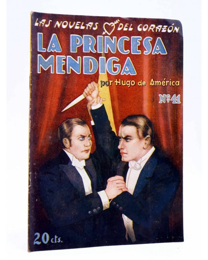 Cubierta de LAS NOVELAS DEL CORAZÓN. LA PRINCESA MENDIGA 41 (Hugo De América) Vecchi Circa 1920