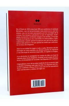 Contracubierta de LAS ESPADAS DEL CARDENAL (Pierre Pevel) Marlow 2009